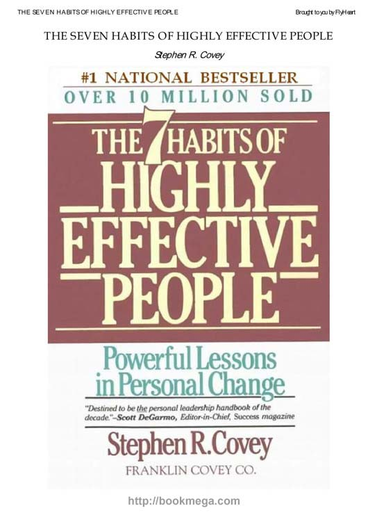 The 7 habits of highly effective people hd pdf, epub, azw3, mobi.