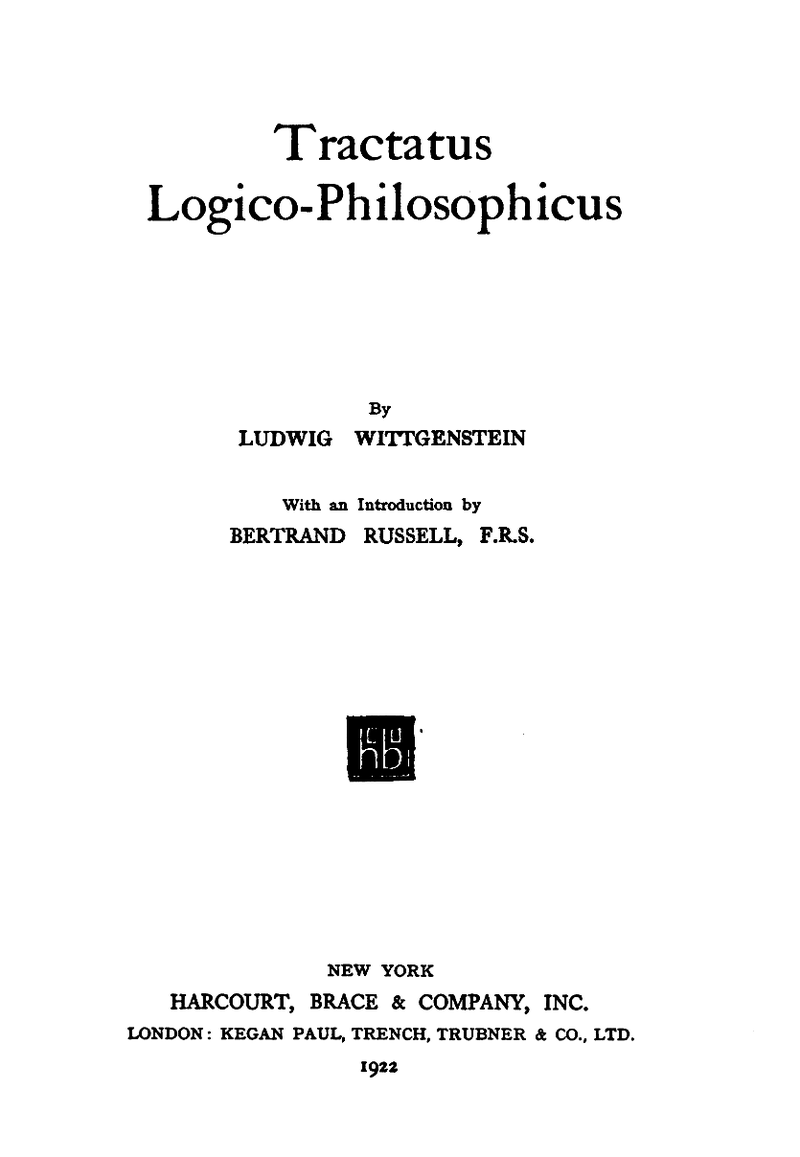 Download ebook Tractatus Logico-Philosophicus