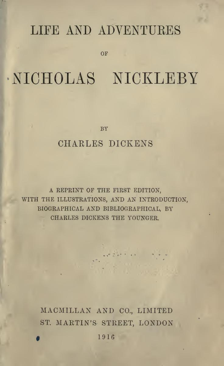 Download ebook Nicholas Nickleby